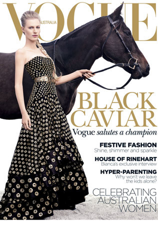 Black Caviar Graces The Cover Of Vogue
